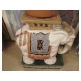Chinese Ceramic Elephant Garden Stool