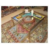 MCM Brass & Glass Tables & Rugs