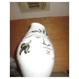 1952 Jean Cocteau for Rosenthal Tetes Face Porcelain Hand Painted Vase Vessel