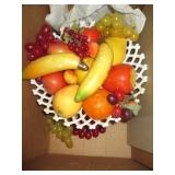 Milk Glass Fruit Bowl