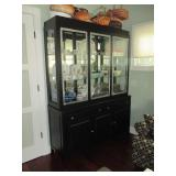 Pottery Barn Lighted China Display Cabinet