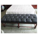 Leather Accent Bench For Any Room