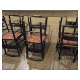 Six Hitchcock Chairs Black Chairs