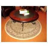 Round Accent Rug With Accent Table