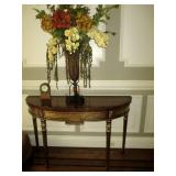 Hall Entry Table with Decor
