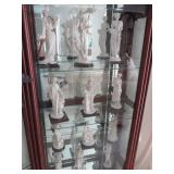 Pair Of Lighted Glass Shelf Curio Cabinets