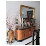 Stunning Lacquer Asian Inspired Dining Room Suite Complete ~ Gold Gilt AccStunning Lacquer Asian Ins