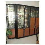 Stunning Lacquer Asian Inspired Dining Room Suite Complete ~ Gold Gilt Accent Mirrors Many Rugs To C
