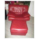 Natuzzi Red Leather Living Room Suite