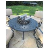 Kaufman Allied Patio Fire-pit and Furniture with Cushions