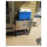 Tommy Bahama Margaritaville Rolling Cooler in Stainless Steel