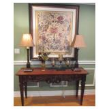 Stunning Ethan Allen entry Table ~ Lamps ~ Decor Separates
