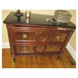 Mirrored Marble Top Two Draw Chest