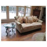 Domain Furniture Throughout Domain Chaise Lounge ~ Glass & Iron Accent Tables