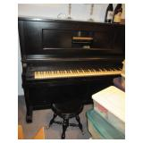 ANTIQUE PLAYER PIANO WITH ROLLS