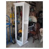 Revolving Mirror Storage Shelves