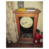 Antique Simplex Industrial Time Clock