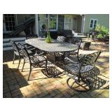Stunning Cast Iron Patio Furniture Sets with Cushions Outdoor Wicker Sofa Patio Suites with Cushions