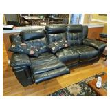 Leather sofa w/ recliners.