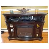 Electronic fireplace.
