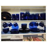 Cobalt Blue Glassware and Fiesta