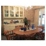 Dining Room table with 6 chairs and 2 leaves, more