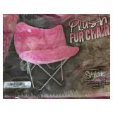 New Pink Fur Chair....a MUST have!!
