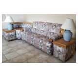 Clean Sofa and End Tables