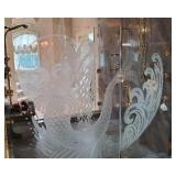 Etched Shower Doors Pair