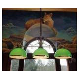 3 Green Globe light fixture