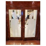 Pair of Etched Doors