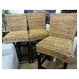 3 Sea Grass Bar Stools