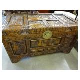 Ornate Wood Carved Chest