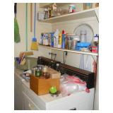 laundry room items, Kenmore washer and dryer