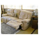 leather reclining sofa, etc.