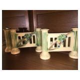 Roseville candle holder/bud vase
