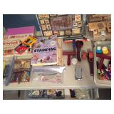Scrapbooking, painting & needle point supplies.