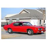 1969 GTO 400 Engine Blue printed with high performance cam, Turbo 400 Trans,hurst shift CHERRY COND.