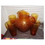 Vintage Pitcher/Glass Set