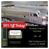 SAGE PATINA Hosts Trains Galore & More in Corinth Estate Sale!  50% Off Today!