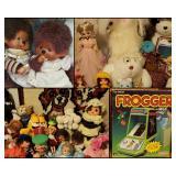 Monchhichi, Frogger, Vintage Toys
