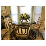 Glass Top Table w/4 Chairs--$300.00
