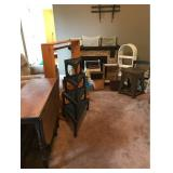Drop Leaf Table, Nested Tables, Clothes Rack, and More