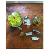 Glass Paperweights and Wades