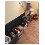 Picture Frames, Stool, Marbles, Tops, More