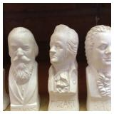 Mid-Century Herco Chalkware Composer Busts