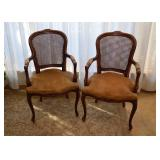 BUY IT NOW!  Lot #501, Pair of Vintage Carved Wood Arm Chairs, $300