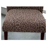 BUY IT NOW-LOT #102, Contemporary Leopard Print Upholstered Chair with Ottoman, $150