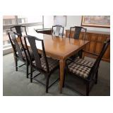 BUY IT NOW-LOT #104, Vintage Wood Dining Table (Table Only), $45