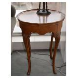 Vintage/Antique Piecrust Side Table with Inlaid Top, $50